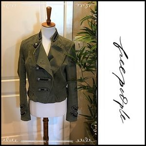 🧥 Free People Military Cropped Jacket 🧥 Sz 10